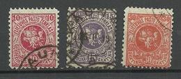 LITAUEN Lithuania 1919 Michel 27 - 29 O - Lituanie