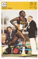 HENRY RONO CARD-SVIJET SPORTA (63) - Athletics