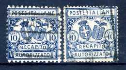 1928 REGNO RECAPITO AUTORIZZATO 1/2 USATI - 1900-44 Vittorio Emanuele III