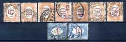 1890-94 ITALIA REGNO SEGNATASSE SET USATO 20/28 - 1878-00 Humbert I.