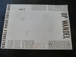 Brugge : Met Guido Gezelle Op Wandel In De Tuin Van Het Museum * Kulturele Kring Ste Anna - Histoire