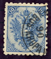 BOSNIA & HERZEGOVINA 1890 Arms 10 H. Perforated 9¼, Used.  Michel 5 I K, SG 58 - Bosnia And Herzegovina