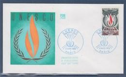 = UNESCO Enveloppe 1er Jour N°39 Paris Le 8 Mars 1969 - UNESCO