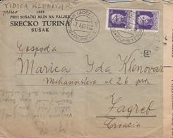Croatia Rijeka Sušak - Italian Occupation, Censored Letter 1942 To Zagreb - Croatia