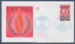 = UNESCO Enveloppe 1er Jour N°40 Paris Le 8 Mars 1969 - UNESCO