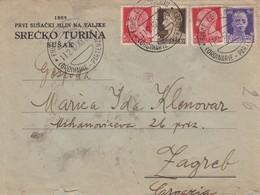 Croatia Rijeka Fiume - Italian Administration, Censored Letter 1942 To Zagreb - Croatia