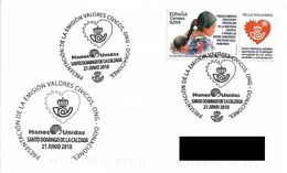 SPAIN. POSTMARK SOLIDARY STAMP. DONATIONS. SANTO DOMINGO DE LA CALZADA. 2018 - Marcofilia - EMA ( Maquina De Huellas A Franquear)