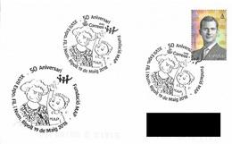SPAIN. POSTMARK 50th ANNIV. FUNDACION MAP. RIPOLL 2018 - Marcofilia - EMA ( Maquina De Huellas A Franquear)