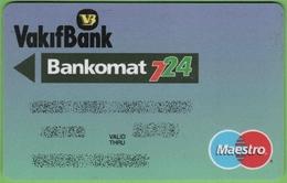 Turkish ATM Card Vakifbank - Cartes De Crédit (expiration Min. 10 Ans)