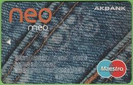 Turkish ATM Card Akbank - Cartes De Crédit (expiration Min. 10 Ans)