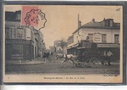 Carte Postale 92. Bourg-la-Reine  Café Des 2 Gares  Rue De La Gare Très  Beau Plan - Bourg La Reine