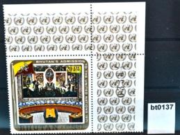 Bt0137 UNO-Beitritt Bhutan, UN-Sicherheitsrat Sitzungssaal, Air Mail BT 1971 ** - Bhutan
