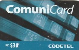Dominicana - 30 RD $ Telephone Keyboard - Dominicaanse Republiek