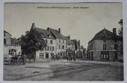 CPA Marcillac-la-Croisille, Route D'Argentat, Corrèze, Café - Autres Communes