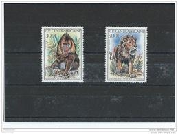 CENTRAFRICAINE 1982 - YT PA N° 255/256 NEUF SANS CHARNIERE ** (MNH) GOMME D'ORIGINE LUXE - Centrafricaine (République)