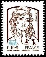 """Salon Philatélique Paris-Philex. Marianne Et La Jeunesse, (Type Du T.-P. De 2013 Avec Surcharge Bleue """"2013-2018"""" En Bas - 2013-... Marianne Of Ciappa-Kawena"""