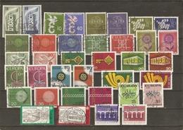 Allemagne Fédérale 1956/84 - Europa - Petit Lot De 18 Séries Complètes° - Timbres