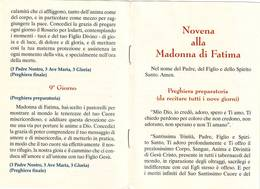 43)librettino Religioso Novena Alla Madonna Di Fatima - Religion