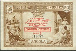 PORTUGAL-BANKNOTES-  ANGOLA  -- REPUBLICA PORTUGUESA--   50  -CINQUENTA CENTAVOS - Angola