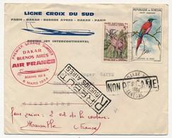 SENEGAL => Premier Service Direct DAKAR - BUENOS AIRES - Par Air France / Boeing 328B - 6 Mars 1964 - Sénégal (1960-...)