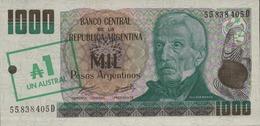 ARGENTINE  1000 PESOS ARGENTINOS De  1985nd Pick 320  UNC/NEUF - Argentine