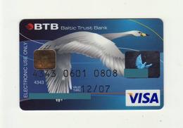 Baltic Trust Bank LATVIA  Bird VISA Expired 2007 - Cartes De Crédit (expiration Min. 10 Ans)