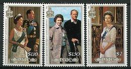 Niue ** 492 à 494 - 60 Ans De La Reine Elizabeth II - Niue