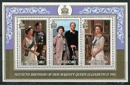 Niue ** Bloc 99 - 60 Ans De La Reine Elizabeth II - Niue