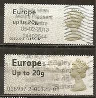 Grande- Bretagne Great Britain Labels Obl - Marcofilia - EMA ( Maquina De Huellas A Franquear)