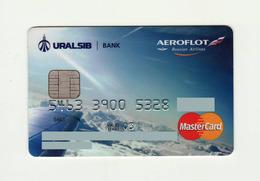 Uralsib Bank RUSSIA Aeroflot Russian Airlines Mastercard Expired 2007 - Cartes De Crédit (expiration Min. 10 Ans)