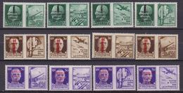 Italia Rep. Sociale 1944 - Soprastampati 12 Val. Propaganda Di Guerra, N. 25/36 MNH - 4. 1944-45 Repubblica Sociale