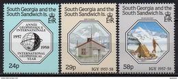 South Georgia And The South Sandwich Islands - 1987 - N° Yvert : 181 à 183 ** - Année Géophysique Internationale - Géorgie Du Sud