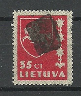 LITAUEN Lithuania 1937 Michel 415 Interesting Mute Cancel Stumme Stempel - Litauen