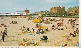 THE BEACH AND PIER ST ANNES ON SEA  VG AUTENTICA 100% - Inghilterra
