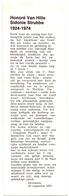 Gouden Jubileum 50 Jaar Huwelijk Honoré Van Hille X Sidonie Strubbe - 1924 - 1974 - Zevekote - Faire-part