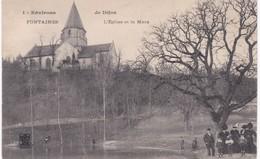 21 Côte D'Or - FONTAINES - L'Eglise Et La Mare - Environs De Dijon - 1906 - Autres Communes