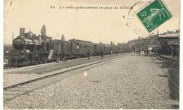 Le Train Présidentiel En Gare De Mézin (locomotive Vapeur) - France