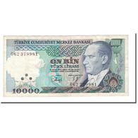 Billet, Turquie, 10,000 Lira, L.1970 (1989), KM:200, TTB - Turquie