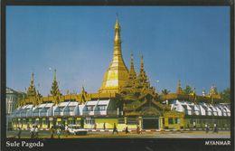 Myanmar 2018 Landscape/Views Postcard — Sule Pagoda (beautiful Stamp And Special Postmark At Back) - Myanmar (Burma)
