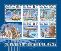 GUINEA BISSAU 2018 - R. Amundsen, Penguins. Official Issue - Pinguïns & Vetganzen