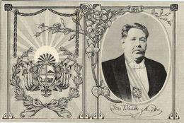 Uruguay, President José Pablo Torcuato Batlle Y Ordóñez (1911) Postcard - Uruguay