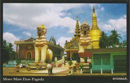 Myanmar 2018 Landscape/Views Postcard — Shwe Maw Daw Pagoda (beautiful Stamp And Special Postmark At Back) - Myanmar (Burma)