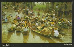 Myanmar 2018 Landscape/Views Postcard — Inle Lake (beautiful Stamp And Special Postmark At Back) - Myanmar (Burma)