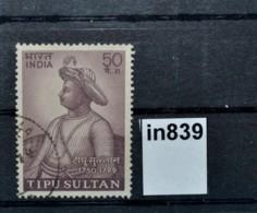 In0839 Tipu Sultan, Indischer Fürst 18. Jhdt., Tiger Of Mysore, Indien 1974 - Non Classés