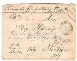 1871 Lettre Chargée De SAARLOUIS Du 19/6/71 Pour BRIEY - 1920-35 Société Des Nations
