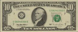 ETATS UNIS 10 DOLLARS DE 1995  G 7 CHICAGO  PICK 499 AU/SPL - Billets De La Federal Reserve (1928-...)