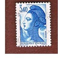 FRANCIA (FRANCE) -   SG 2474  -    1986 LIBERTY  3,40   -  USED - Gebraucht