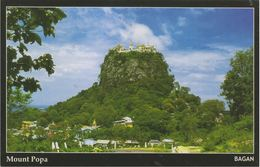 Myanmar 2018 Landscape/Views Postcard — Mount Popa (beautiful Stamp And Special Postmark At Back) - Myanmar (Burma)