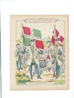 Drapeau Français Régiment Du Roi Et De Picardie Années 1720 Protège-cahier Couverture 220 X 175  Bon état 3 Scans - Protège-cahiers