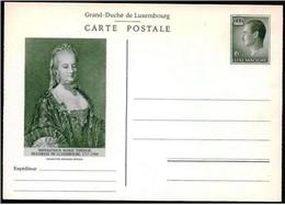 Lussemburgo/Luxembourg: Intero, Stationery, Entier. Imperatrice Maria Teresa, Empress Maria Teresa, Impératrice Maria Te - Beroemde Vrouwen